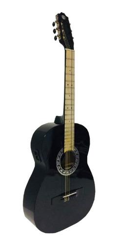Guitarra clásica electroacústica Guitarras Valdez PS900 negra