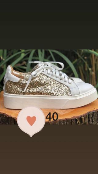 Zapatillas Max Gold Doradas
