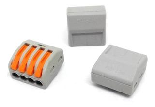 10 Unids Conector Wago Borne Emenda 4 Fios - Modelo Pct-214