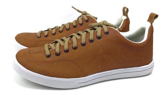 Zapato Hombre Zapatilla Simil Cuero Base Goma 6 Cuotas