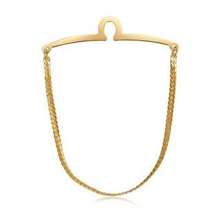 Yoursfs 18k Chapado En Oro Tie Cadena Clip Único Conjunto