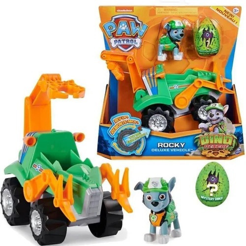 Carrinho Rocky Veículo Resgate Patrulha Canina Dino Rescue