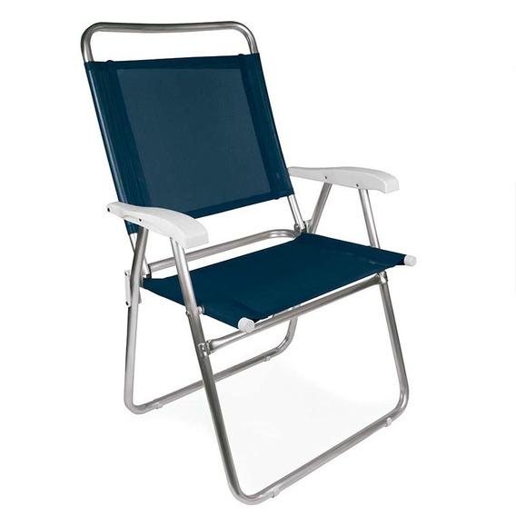 Cadeira Master Plus Alumínio - Mor - Praia / Piscina