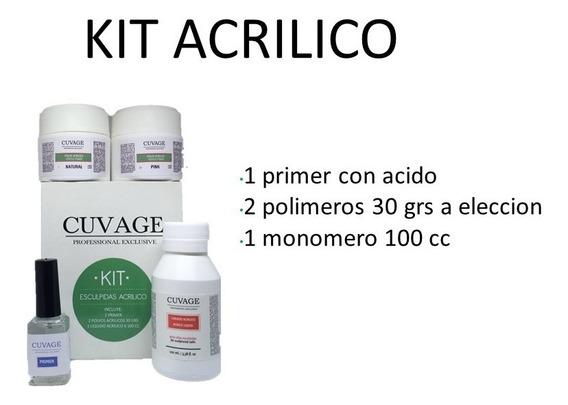 Kit Construcción Uñas Acrílico Cuvage