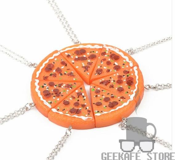 Kit De 7pcs Colar De Pizza Ideal Para Melhores Amigos(as)