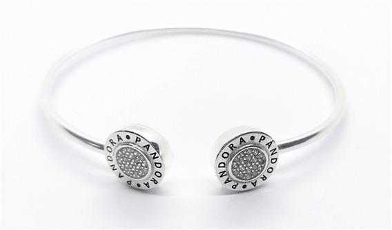 Pulseira Rígida P/ Charm Pandora Prata 925 Bracelete Brilho