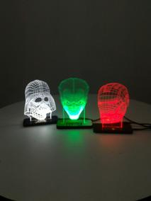 Luminária De Led 3d Nerd - Coringa Ou Darth Vader