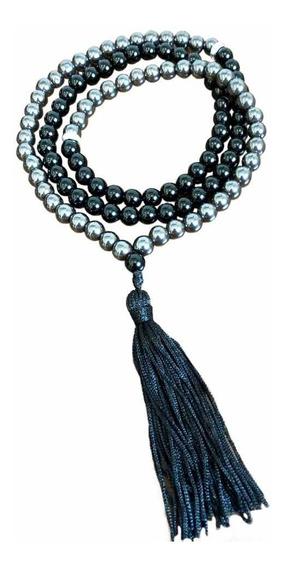 Japamala Onix Negro Pedra Natural 108 Contas Terço Budismo