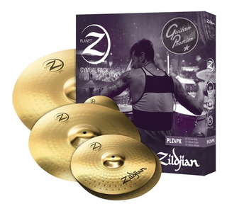 Set Platos Zildjian Z4 Ride 20 Crash 16 Hihat 14 Platillos Planet Z Pack 4 Platos Plz4pk + Par De Palillos - Made In Usa