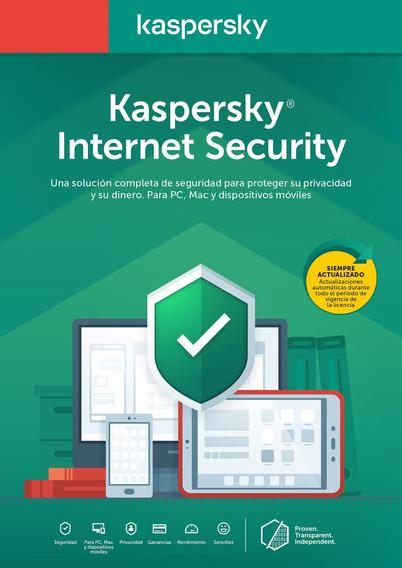 Licencia Internet Security Kaspersky 3 Dispositivo 1 Año