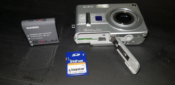 Câmera Casio Ex Z55, Cartão De Memória, Carregador E Cabos