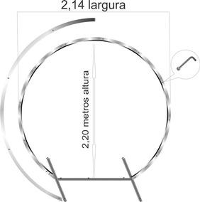 Suporte,p/arco Redondo+desconstruído Desmontável Pratico
