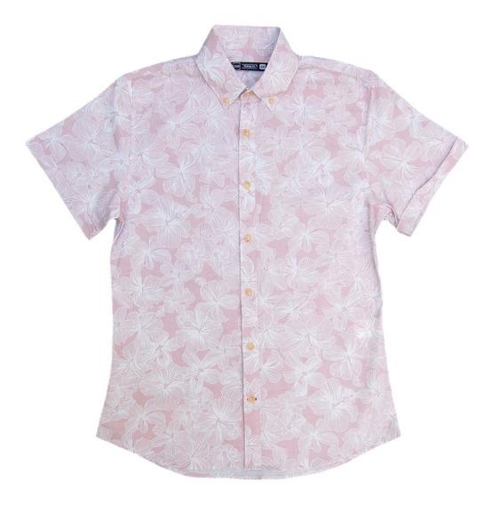 Camisa Moda Fresca Hawaiana Estilo Slim Fit Chb Para Hombre