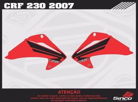 Adesivos De Aletas Replica Crf 230 - 2007 Pvc 0,60 Cola 3m