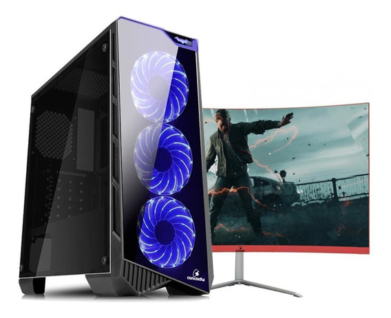 Pc Top+monitor Concórdia I5 9400 16gb Hd 1tb 120gb 1050ti