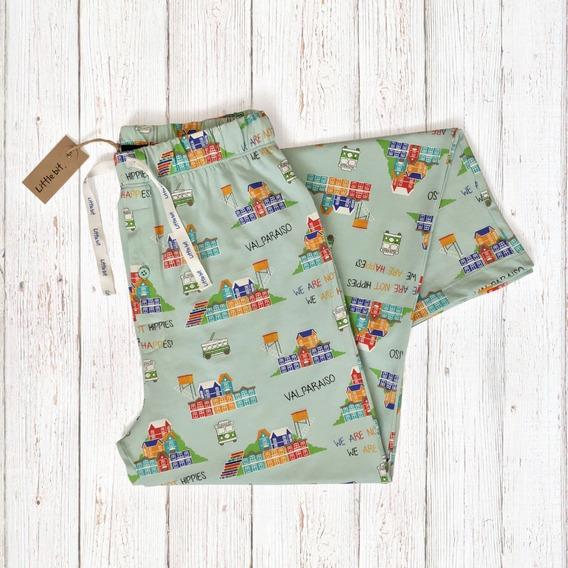 Pantalones Pijama Diseños Chile. 100% Algodón Pima Peruano