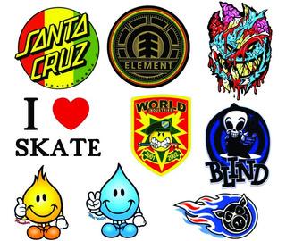 12 Stickers Skate Y Roller, La Mejor Selección De Diseños