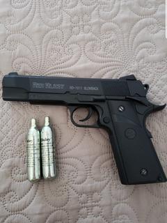 Pistola De Pressão Co2 Red Alert 1911 Metal 4,5 Mm Blowback