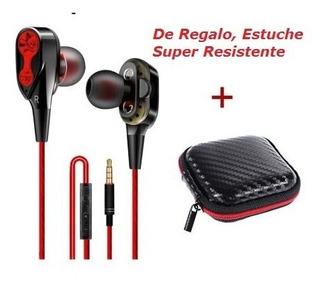 Audifonos Handfree Doble Bobina Earphone + Regalo!!