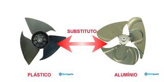 Helice Lg Shu060qa, Shu062fa, Shu063fa, Szu070fla Aluminio