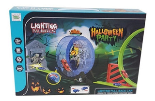 Pista Autos Lighting Pull Back Car Halloween 6688-255 Full