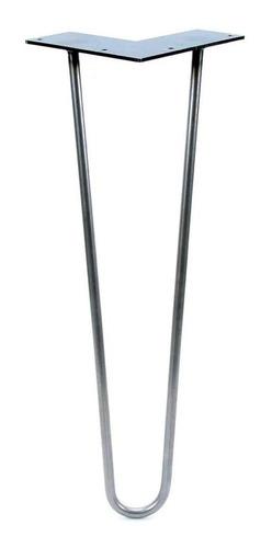 5 Hairpin Legs X 40 Cm  Color Rojo