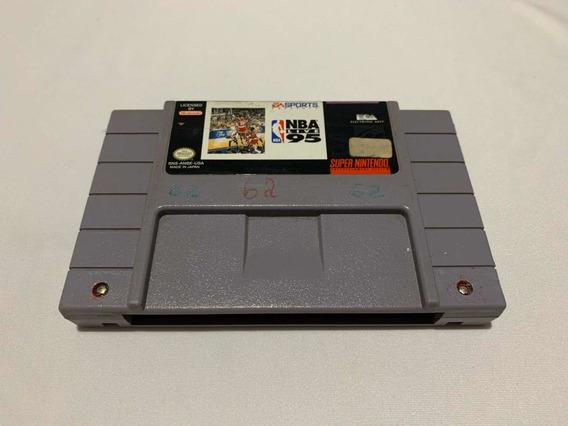 Nba Live 95 Super Nintendo Basquete Fita Cartucho Vídeo Game