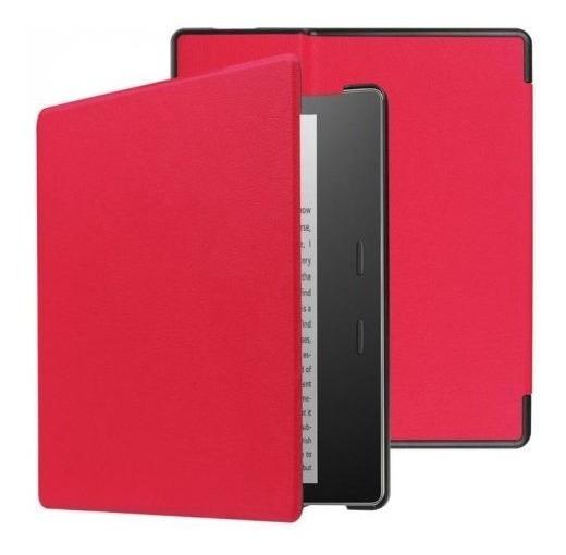 Capa Em Couro Magnética Para Amazon Kindle Oasis - Vermelha