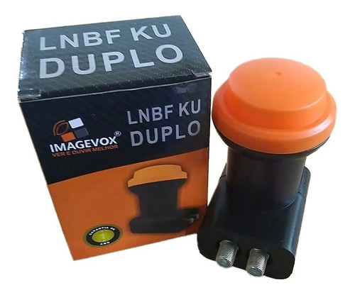 Imagem 1 de 7 de Lnb Duplo Universal Ku Hd 4k Lnbf Twin 2 Saídas