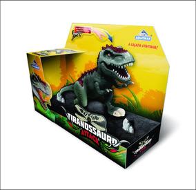 Boneco Dinossauro Rex Tiranossauro Attack - Adijomar Brinq