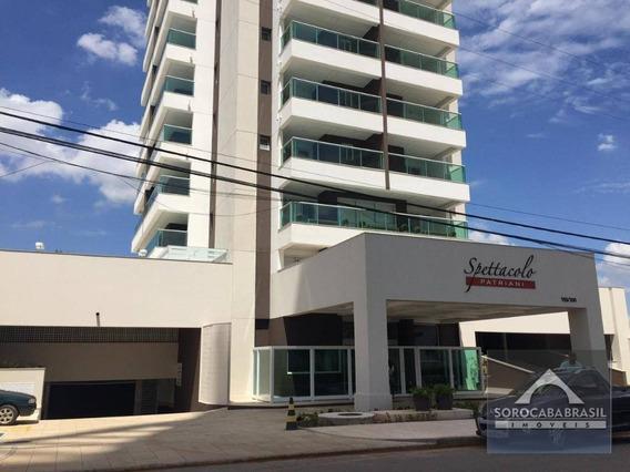 Apartamento Com 1 Dormitório À Venda, 52 M² Por R$ 360.000 - Condomínio Spettacolo Patriani - Sorocaba/sp, Próximo Ao Shopping Iguatemi. - Ap0409