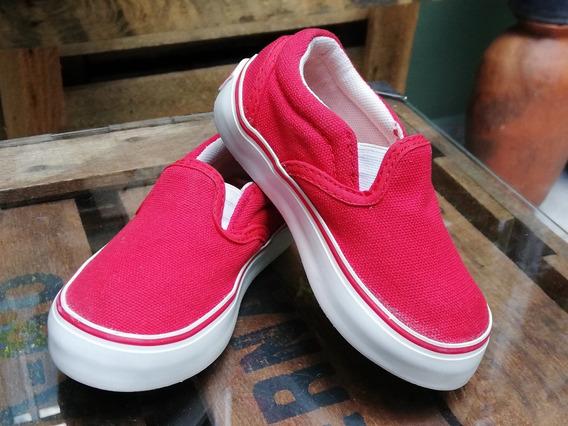 Panchas Para Nenes, Alpargatas Cheeky, Talle 22, Color Rojo