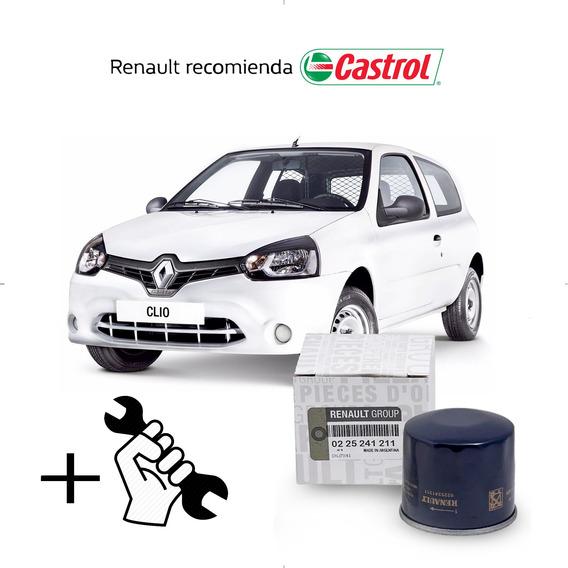 Cambio Filtro + Aceite Castrol 10w40 Renault Clio 2 1.2