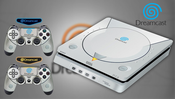 Skin Ps4 Fat Slim Pro Dreamcast Sublime