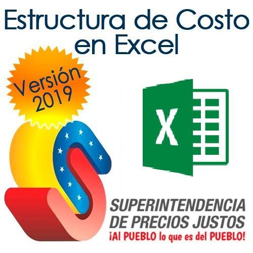 Estructura De Costo Sundde Plantilla Hoja Excel 2019