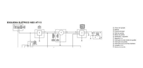Diagrama/ Esquema Elétrico Da Yamaha Neo At115