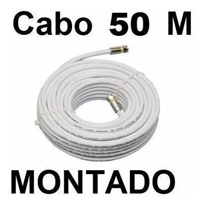Cabo Coaxial Antena Digital Sky Parabolica Net 50m Montado