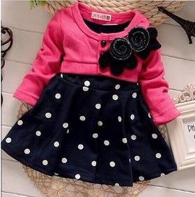 Vestido Infantil De Bolinhas Com Bolero
