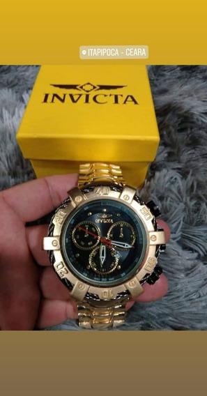 Relógio Invicta Dourado Luxo