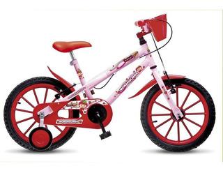Bicicleta Infantil Aro 16 Moranguinho Mtb Rosa Vm Colli Bike