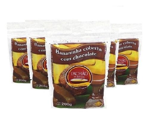Imagem 1 de 1 de 6 Und Bananinha Chocolate Tachão De Ubatuba 200g