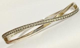 Pulseira Bracelete Prata Lei E Pedras 6x5,5cm