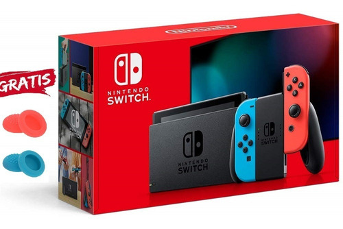 Imagen 1 de 4 de Nintendo Switch Neon + Garantia + Financiamiento Somos Tien