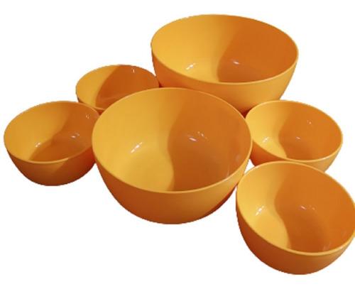 Set De 6 Bowls Apto Premium Plastico Reforzado 3 Medidas