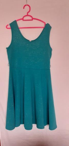 Vestido Casual Para Damas Verde Talla M Importado.