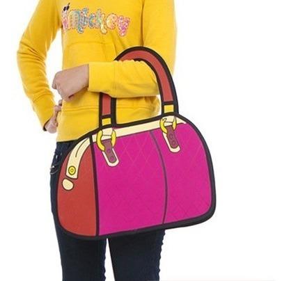 Bolso Cartera Diseño 2d 3d Cartoon Bag Handbag Importada 3