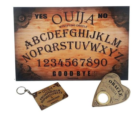 Tabuleiro Ouija Impresso Com Ponteiro E Chaveiro