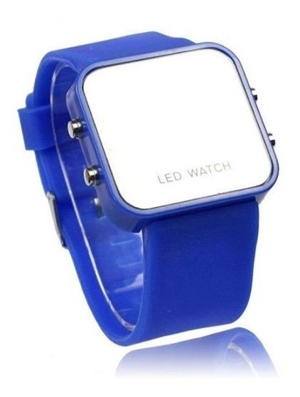 Relógio Digital Masculino Feminino Espelhado Led Bonito
