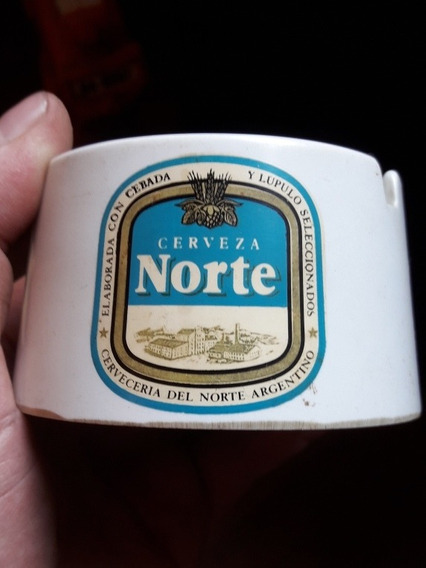 Antiguo Cenicero Publicidad Cerveza Norte Coleccionable
