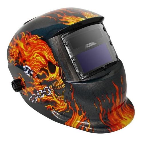 Imagen 1 de 3 de Careta Electrónica Para Soldar Diseño Flama